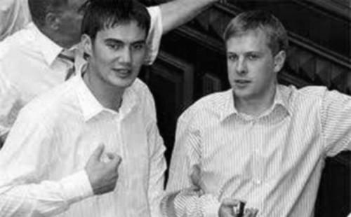 Виктор Янукович-младший и Виталий Хомутынник
