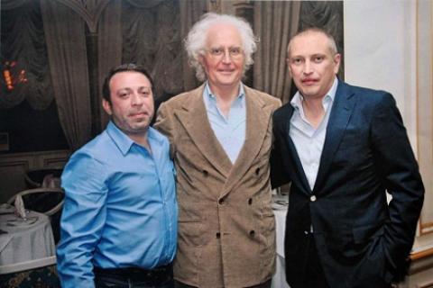 На фото (слева направо): Геннадий Корбан, Лучано Бенеттон, Геннадий Аксельрод.