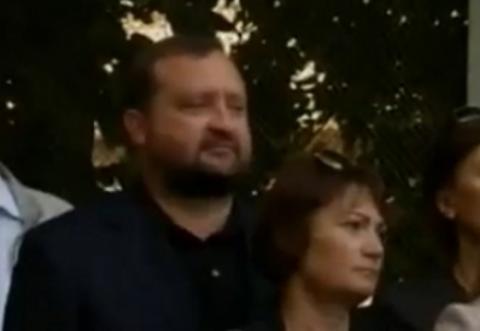 На фото Сергей Арбузов с женой Ириной Арбузовой, недавно пытавшейся снять в украинском банке 50 млн грн.